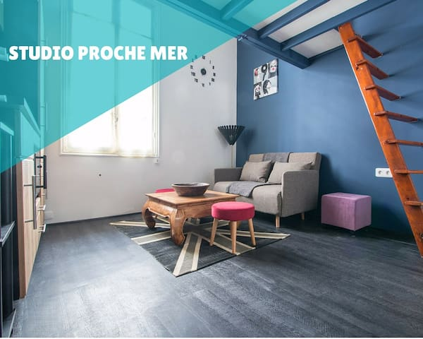 Studio avec mezzanine proche mer et Monaco - Roquebrune-Cap-Martin