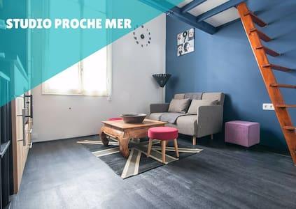 Studio avec mezzanine proche mer et Monaco - Roquebrune-Cap-Martin - Lägenhet
