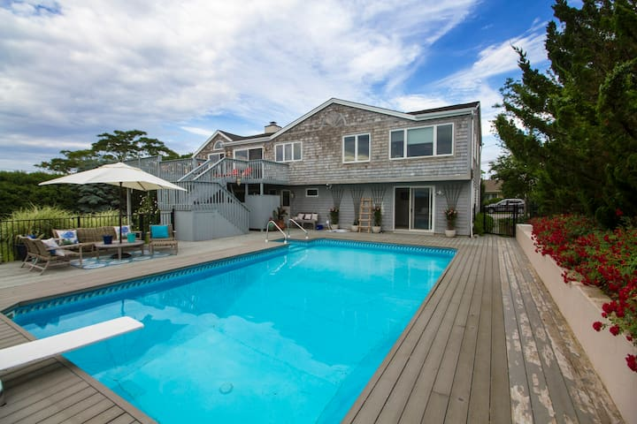 Magnificent sunsets, pool & beach - Hamptons