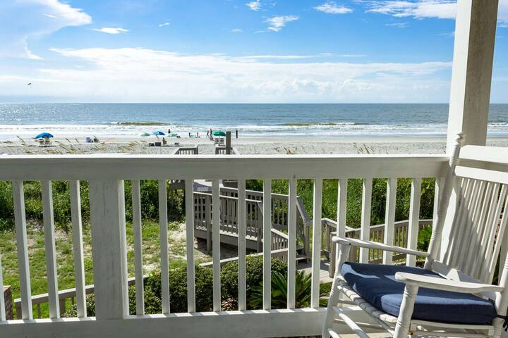 Have a seat and enjoy the ocean breeze and miles of Surfside Beach