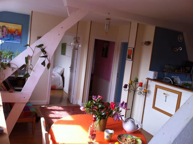 Chambre lumineuse vue sur la rivière - Pont-l'Abbé - Apartment