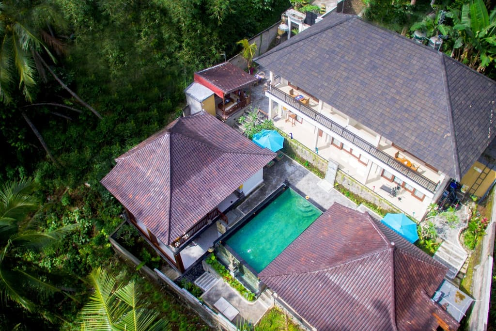 Guest House from the air
