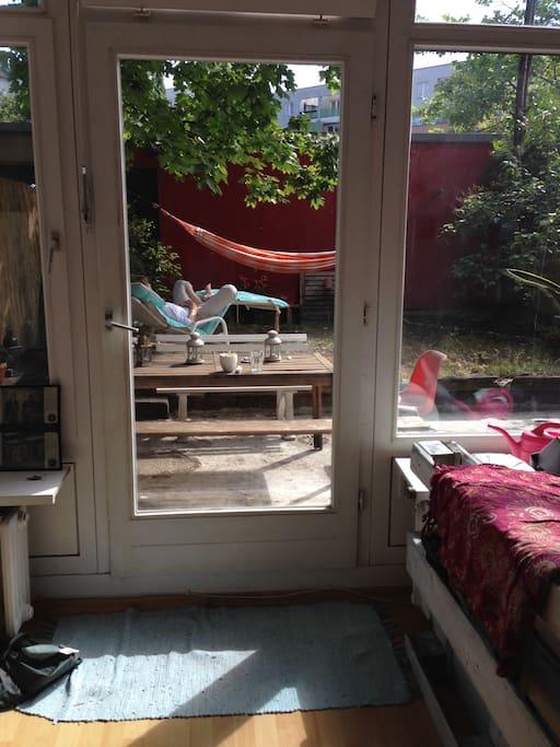 few into the garden/Ausblick in den Garten