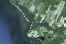 Ariel view of the point