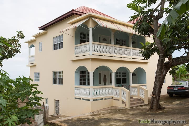 Experience Authentic Jamaica in our large house.