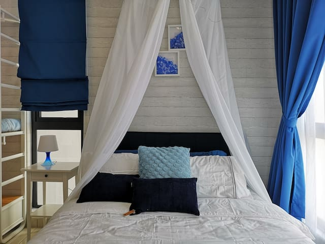 ❤CASA BLUE★Canopy Bed★Ara Damansara| SubangAirport