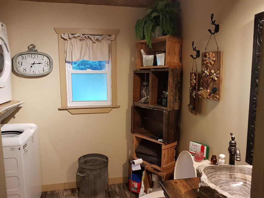 Full functioning shared bathroom with all of the amenities.