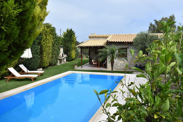 holiday  villa  with  private  pool and garden