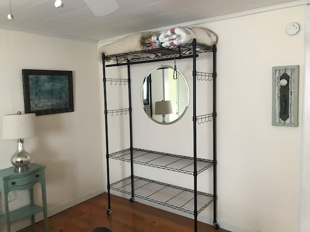 clothing storage for guests