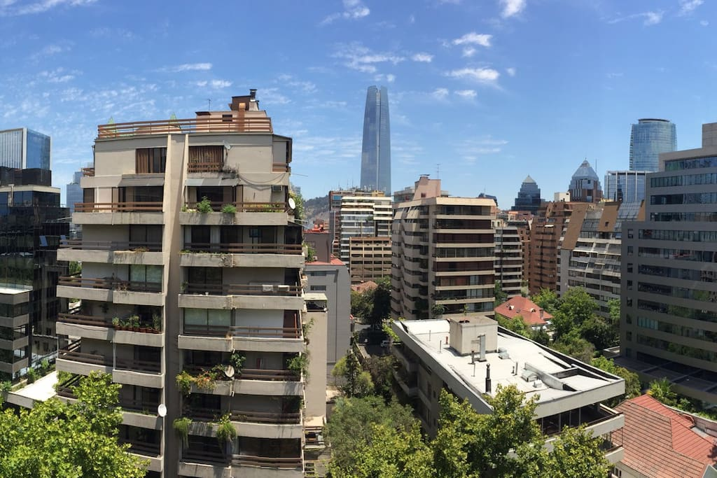 A hell of an open view to Costanera Center and W Hotel