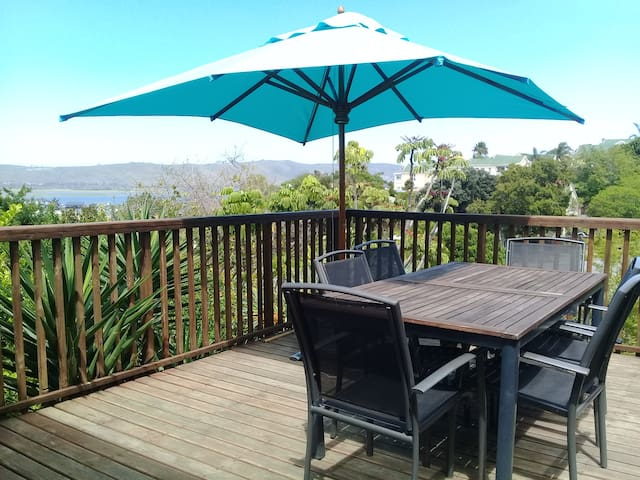 Back deck great for sundowners