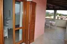View of the terrace from the Master Bedroom door.