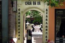 Entrance of  Ba Da Pagoda on Nha tho Street