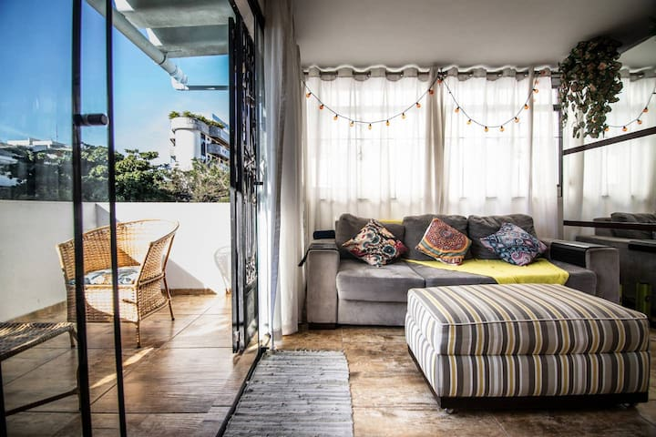 Real bed in Ipanema loft