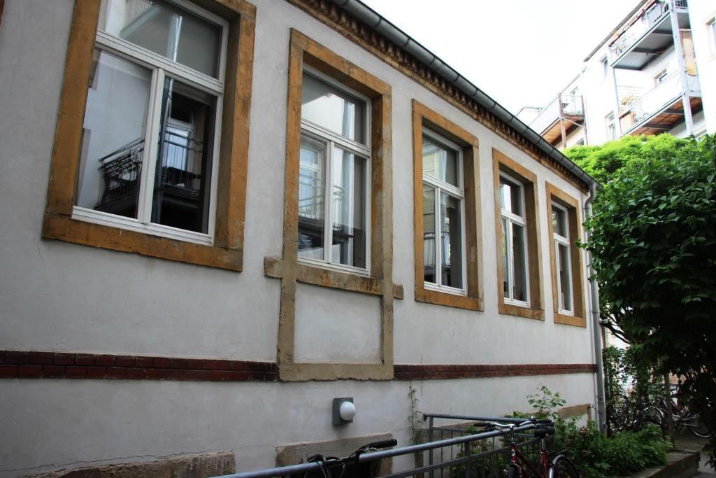 Unser Haus von vorn (alles unsere Fenster)