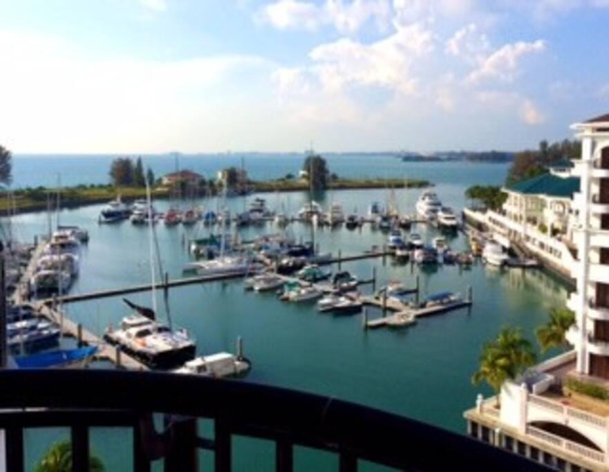 Balcony view of the Marina