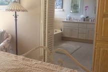 master suite with large bath