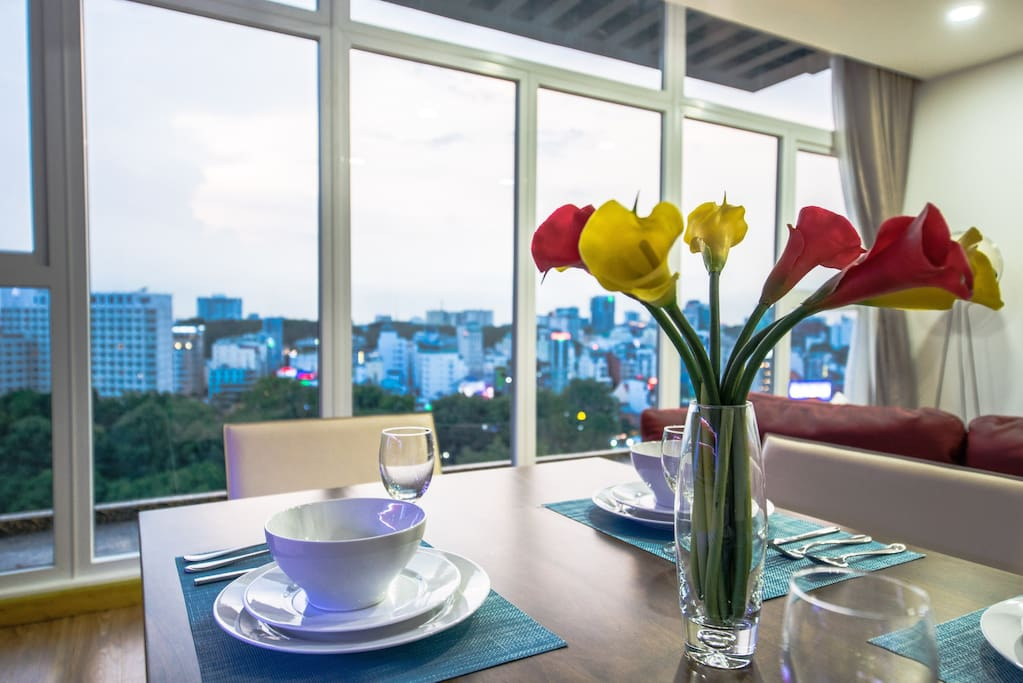 Dining table with amazing view