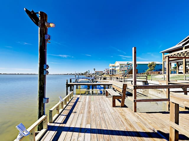 The brand-new dock offers prime fishing and gorgeous sunsets.