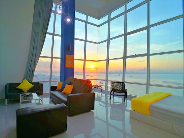 180°超级无敌海景日出海边套房 180° Sunrise Seaview Duplex Lv17