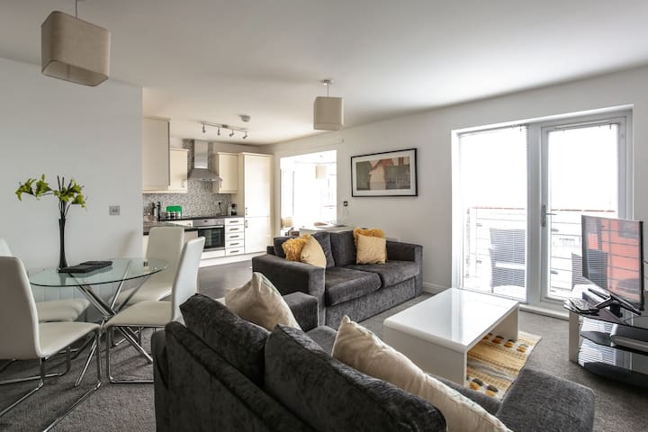 Living area is open plan with panoramic views
