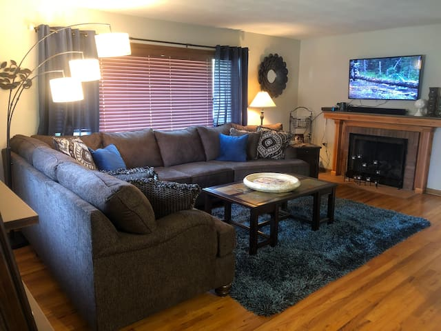 All new furnishings, comfortable Simmons sofa perfect for relaxing, seats 7-8 people.