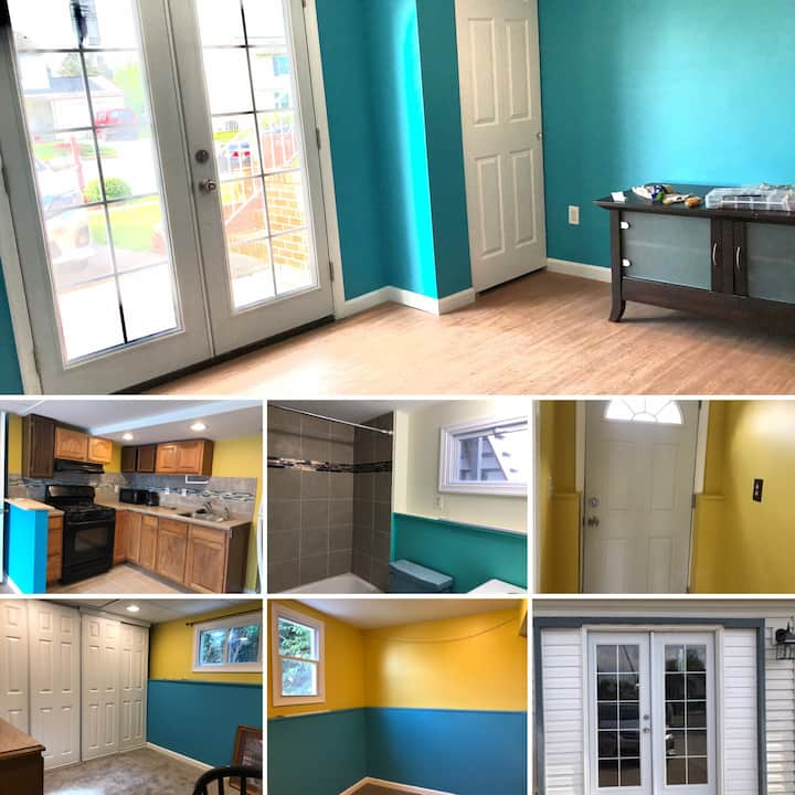 2 Room, 1 Kitchen, 1 Bathroom, small Patio in back