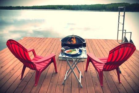 Lalen Lake B & B, a cozy lakefront cabin.