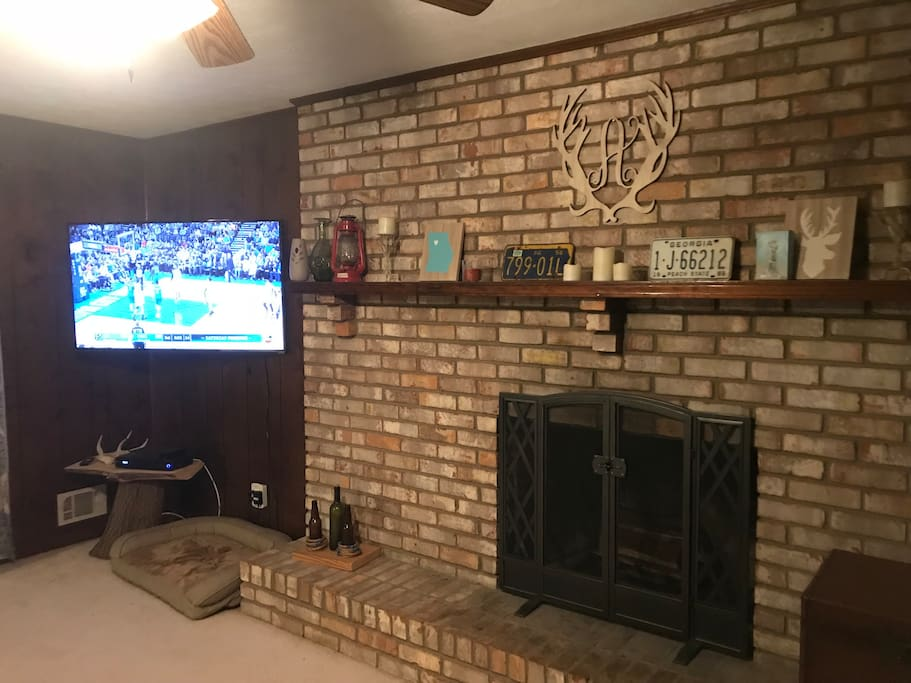 Open living room to relax and watch T.V.