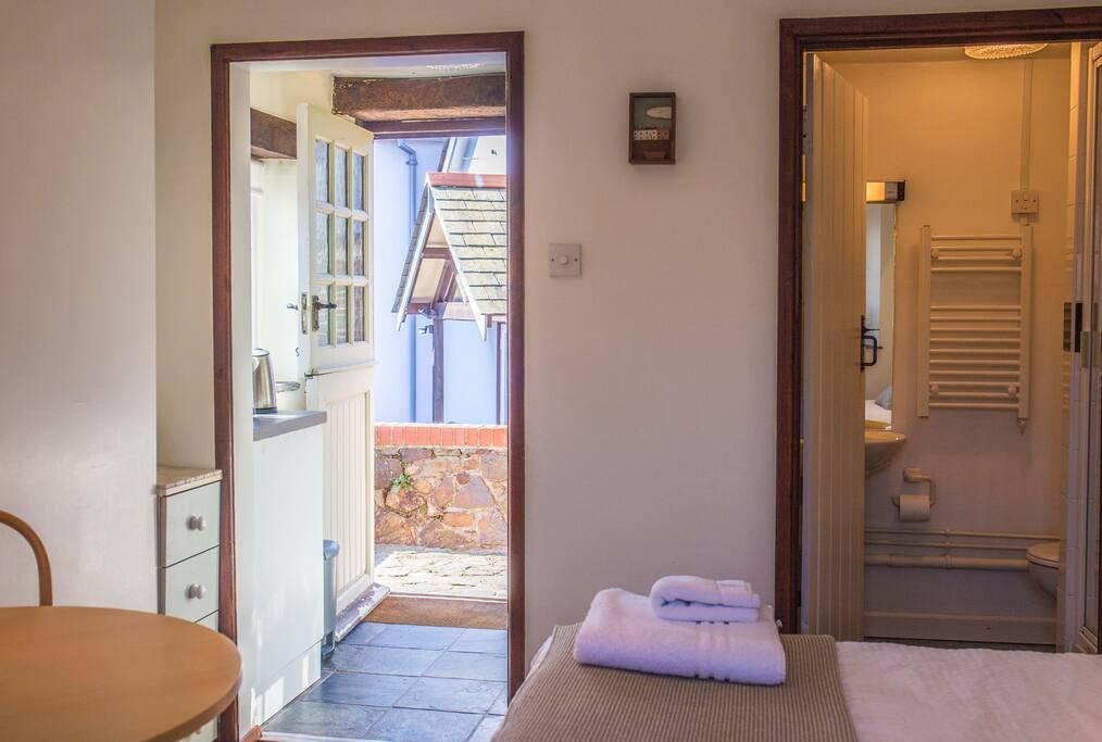 Looking from bedroom to door