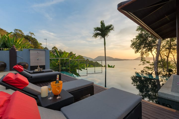 Grand Boutique Villa in Patong, full seaview, 6BRs