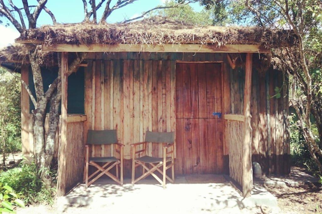 The verandah of the cottage