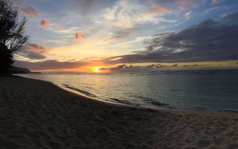 Seeing the sunset from the beach is a perfect way to end the day.