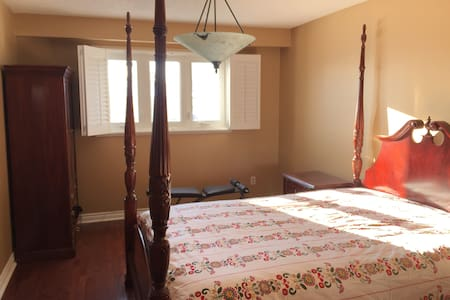 豪华舒适Spacious master bedroom with private bathroom - Vaughan - Ev