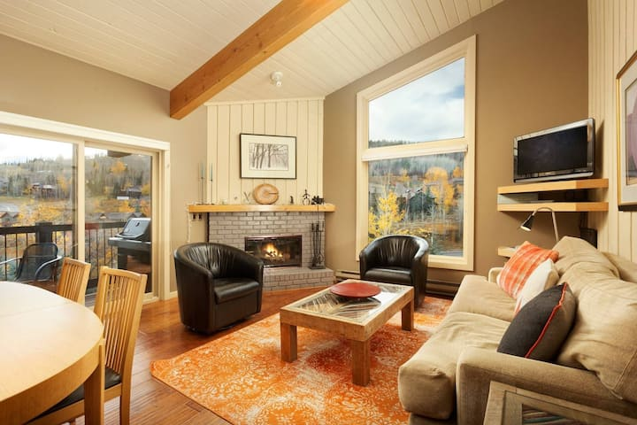 Amazing Snowmass Ski Area Views. Ski In/Out Via Access Trail. Wood Fireplace, Balcony, Free Parking