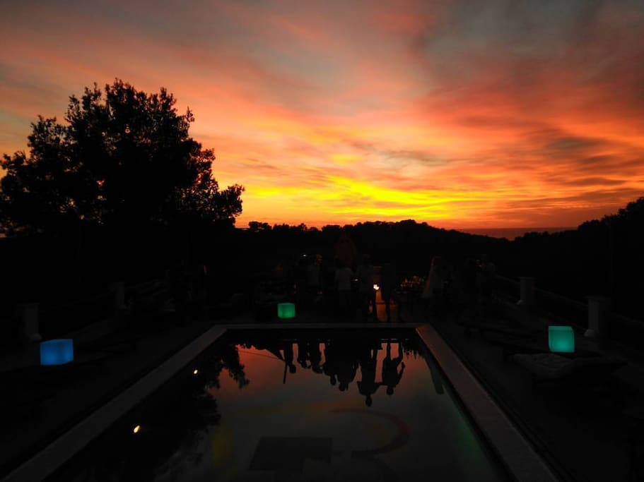 SUNSET VIEWS FROM OUR POOL