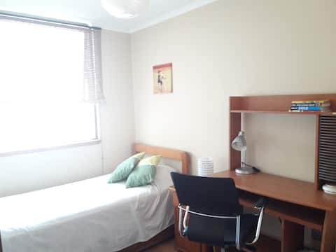 COZY ROOM WITH PRIVATE BATHROOM IN LAS CONDES
