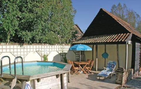 Holiday cottage with 1 bedroom on 28m² in Ergny