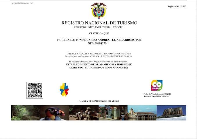 EL ALGARROBO P.R. TOCAIMA