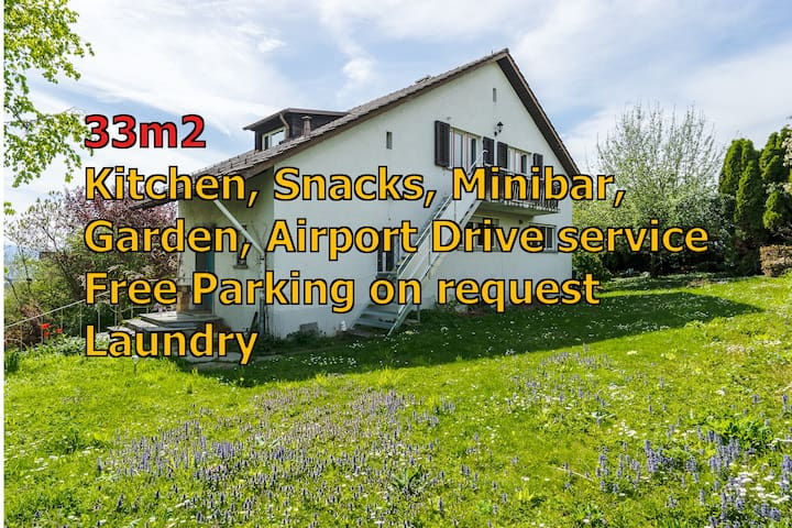 Airport 10min, Zurich Center 29min, Free Parking