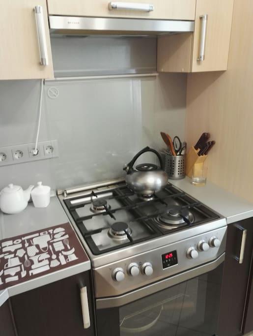 кухонная зона для приготовления