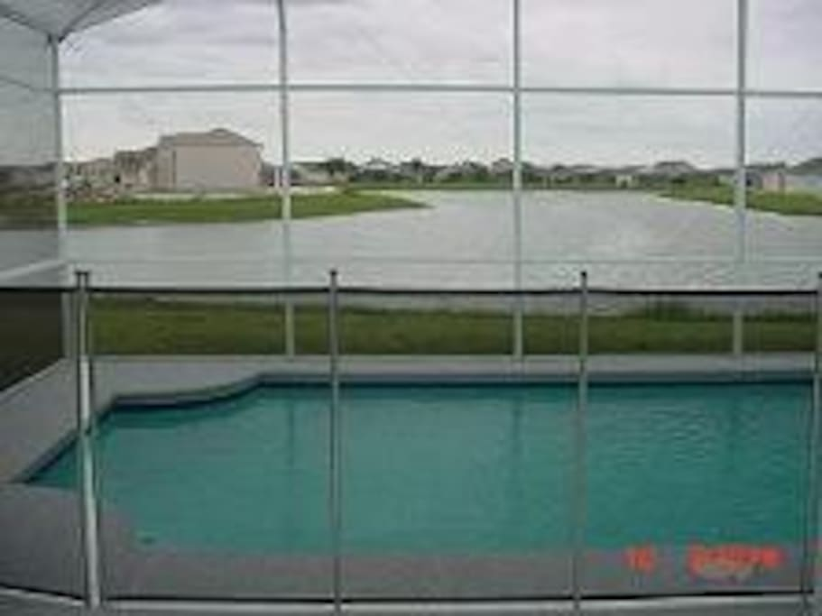 VIEW ON POND FROM POOL