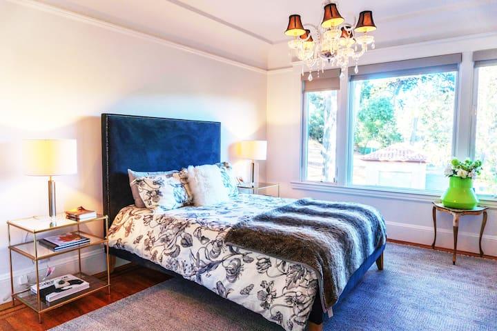 Bedroom #1 - View to Presidio Park / Cypress trees/ Lake / Golf Course