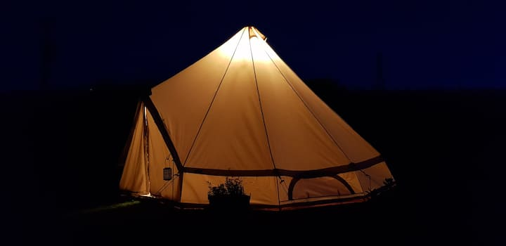 Carys The Glamping Bell Tent At The Ring Pub