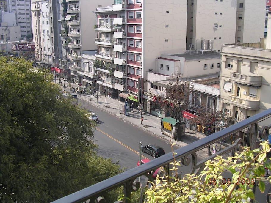 Vista desde el balcón de la habitación. View from the balcony of the room.