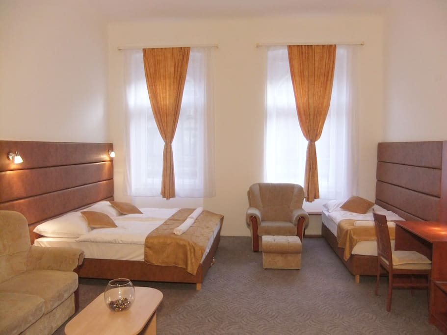 Room 1. Spacious and sunny room, ideal for 3 people.