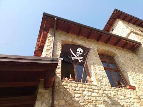 You can put your tent near our Pirate Castle!