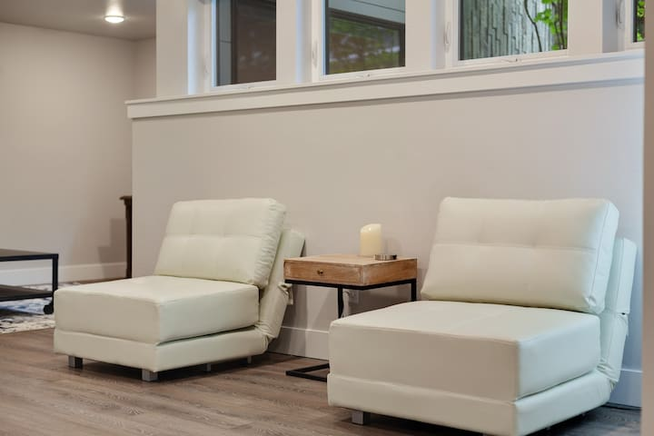 Stay Here !   Located on Historic Sherman Ave     Modern Sunlit Garden Level Condo