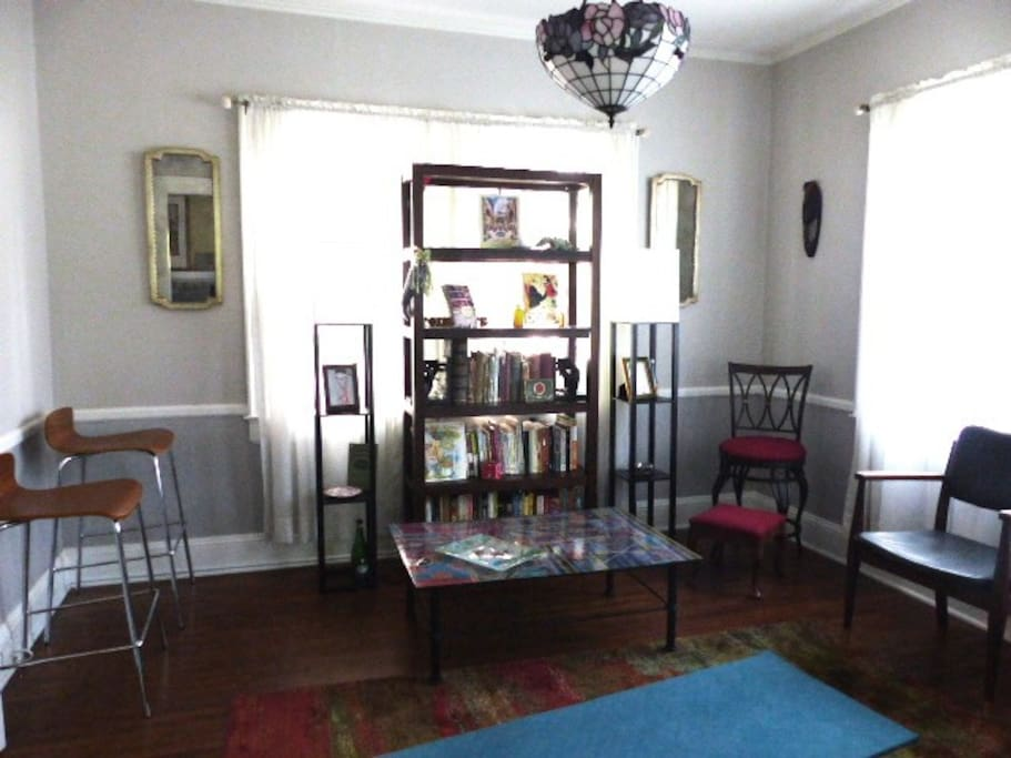 Social / reading room. Easily converts to dining setup if needed.