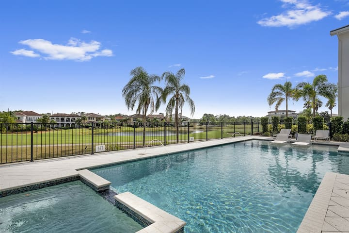 Swim in your private pool with a gorgeous view